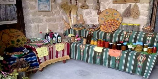 Syrian rural women's  food products highlighted  in an exhibition in Tartous