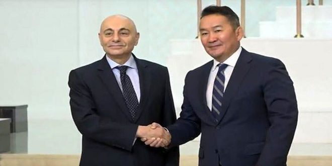 Mongolian President pleased with Syria's success in clearing most of its territory from terrorism