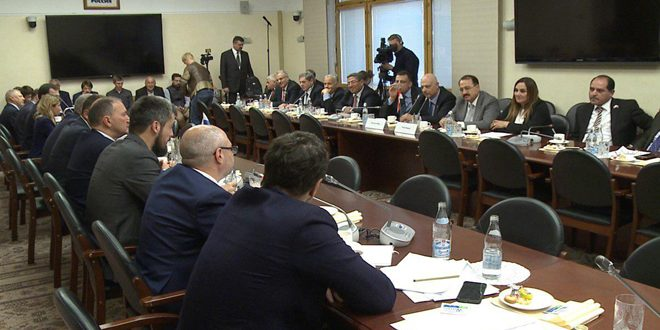 Syrian parliamentary delegation holds series of meetings with Russian officials in Moscow