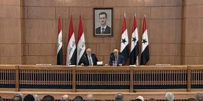 Al-Moallem: Syria and Iraq started to sense tangible victory over terrorism
