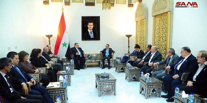 Sabbagh, Chinese ambassador discuss cooperation