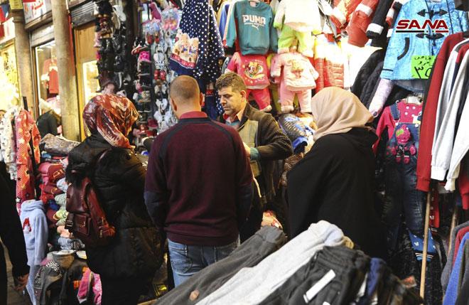 Hamidiyah Souq (market) in Damascus – Syrian Arab News Agency