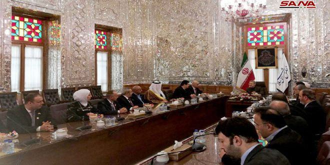 Larijani stresses failure of schemes of states targeting Syria