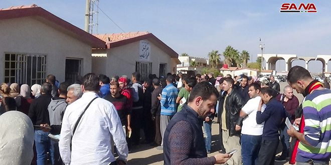 Over 2000 displaced Syrians return via Nassib border crossing