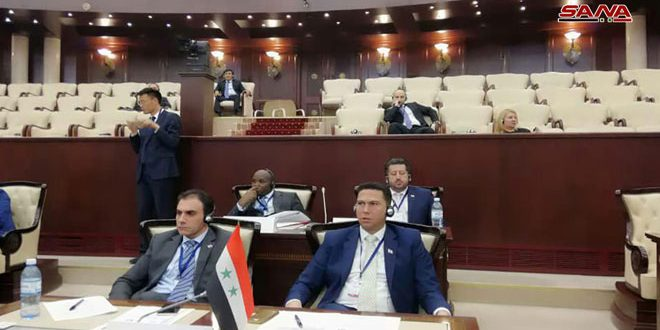 People's Assembly delegation during Global Conference of Young MPs: Syria has kept education free and hosted 30 thousand students despite war