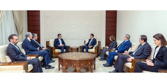 President al-Assad to Jaberi Ansari: necessity of efforts exerted by friendly countries to have a political process led by Syrians