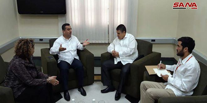 Parliamentary Group for Cuban-Syrian Friendship : Syria will absolutely triumph over terrorism