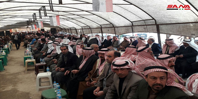 Popular event held in Qamishli in support of national unity