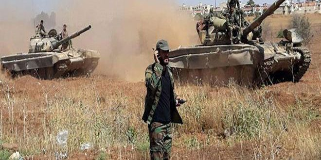Army expands operations against terrorists in Idleb, destroys their positions in Hama