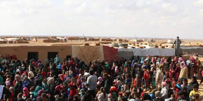 Two humanitarian corridors opened to evacuate besieged civilians in al-Rukban Camp