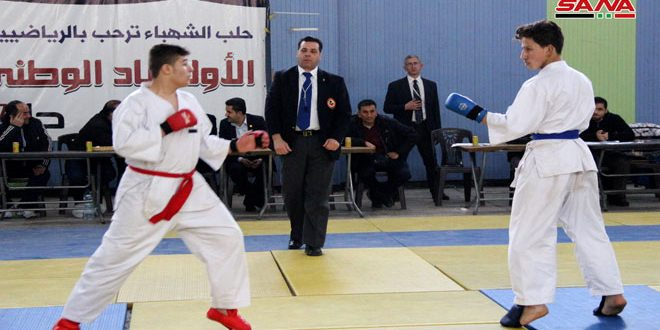 Aleppo workers club ranks first at Aleppo Karate Championship