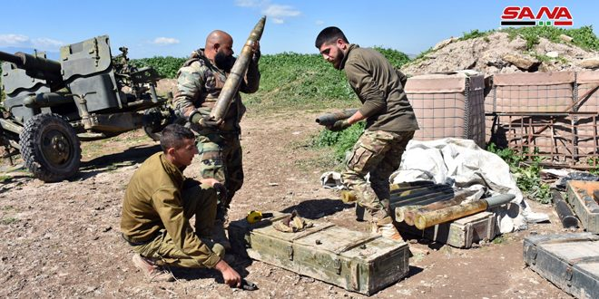 Fresh terrorist rocket attack in Hama countryside, army retaliates
