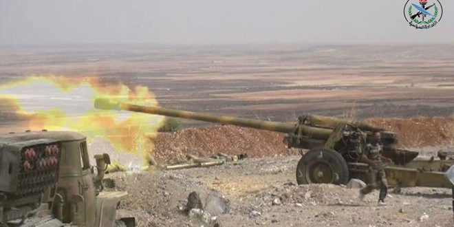 Army responds to terrorists' breaches, eliminates many of them in northern Hama
