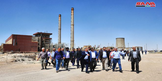 Indian company resumes project of expanding Tishreen Thermal Plant after years of hiatus