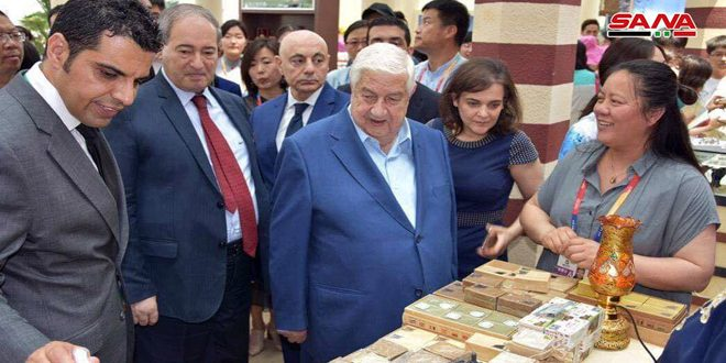 Al-Moallem visits Beijing International Horticultural Exhibition 2019