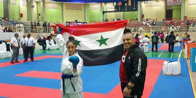 Mariam Trifi wins gold medal at Legend International Karate Club