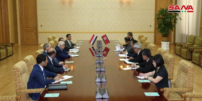 Al-Moallem and Ri Yong-ho hold talks, sign MoU
