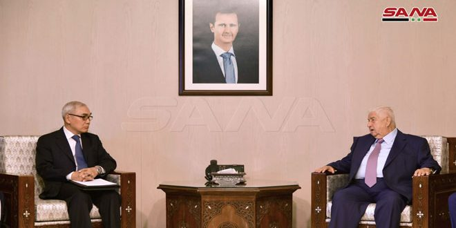 Al-Maollem discusses with Xie Xiaoyan bilateral relations between Syria and China and latest developments in the region