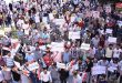 Citizens of Aleppo protest against the US, Turkish aggression on Syrian territories
