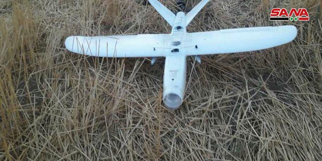 Drone for Turkish occupation forces downed in Mujaibret Zarkan village, Hasaka