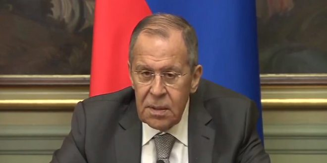 Lavrov underlines necessity to settle crisis in Syria based on UN resolution no. 2254