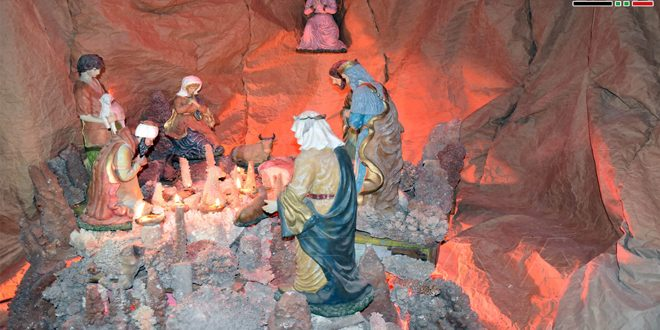On occasion of Christmas … largest Christmas cave opened in Syria, Hama countryside