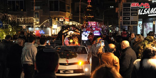 Christmas carnival roams Damascus streets spreading joy and festive mood