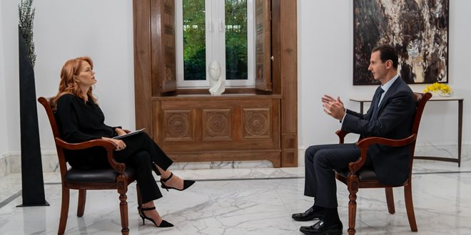 The interview that Italian Rai News 24 refrained from broadcasting…President al-Assad: Europe was the main player in creating chaos in Syria