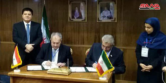Syria, Iran sign a memo on cooperation in domain of hydropower