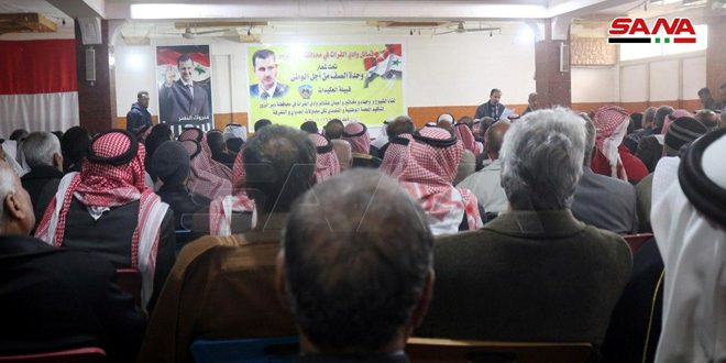 Deir Ezzor Tribes' assembly affirms support to national unity and sovereignty