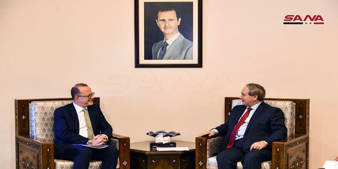 Mikdad, Chaiban discuss cooperation between Syrian government and UNICEF