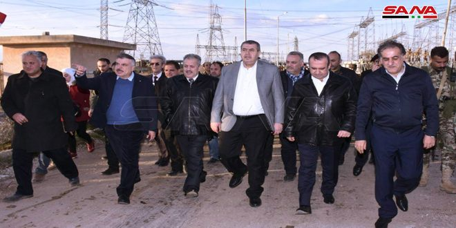 Ministerial delegation inspects a number of economic facilities in Aleppo countryside