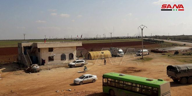 Humanitarian corridor opened in Mjairez west of Saraqeb