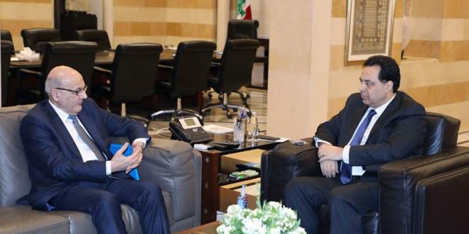 Diab, Khoury discussmeans ofenhancing relations between Syria and Lebanon
