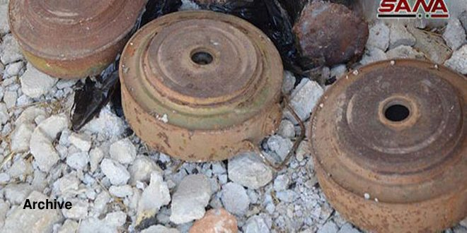 Child martyred in mine blast left behind by Daesh terrorists in Hama countryside
