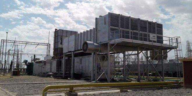 Rehabilitating second gas group to generate electricity at al-Tayem plant, Deir Ezzor