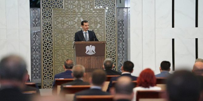 President al-Assad: Elections are historic stage written by our people through their electoral pens and their will… Golan remains in the heart of every Syrian citizen