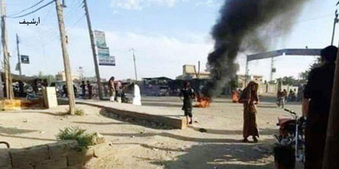 QSD militia kidnaps a number of al-Shadadi youths, infighting erupts among Turkish occupation terrorist mercenaries in Hasaka