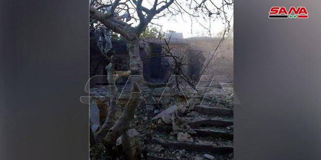 Terrorist organizations target with rockets Jourin village, Hama northwestern countryside