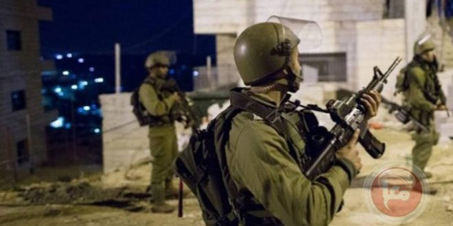 Israeli occupation forces arrest a Palestinian west of Bethlehem