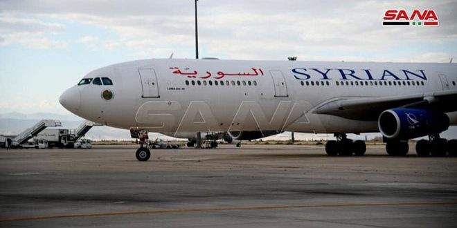 Transport Ministry: Three flights from Sharjah to Damascus this month