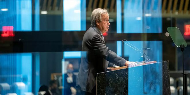 Guterres calls for lifting sanctions that affect states in confronting Coronavirus