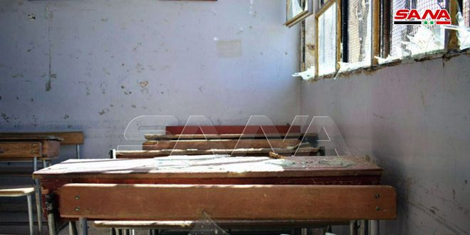 Material damage to school in Quneitra due to Israeli missile attack