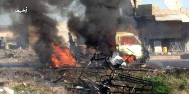 A car bomb blast in al-Bab city in Aleppo northeastern countryside