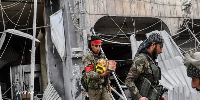 Pro-Turkish mercenaries set fire to houses in Hasaka countryside