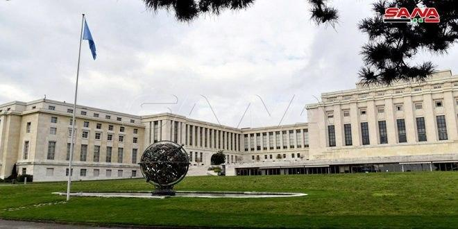 National delegation in Geneva stresses importance of humanitarian file and lifting illegal sanctions imposed on Syrian people