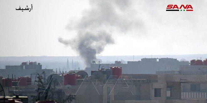 Turkish occupation shells vicinity of Ayn Issa in Raqqa countryside