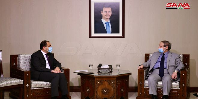 Mikdad receives credentials of UNFPA representative in Syria