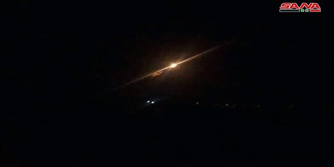 Syrian Army air defenses confront Israeli aggression in Hama, shoot down most of hostile missiles