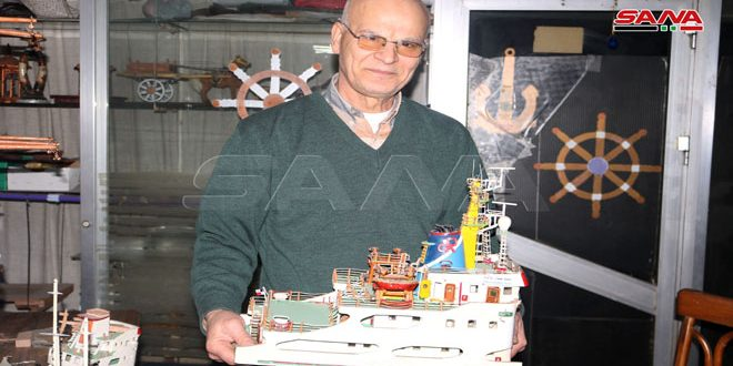 Engineer from Lattakia excel at industry of ships' models